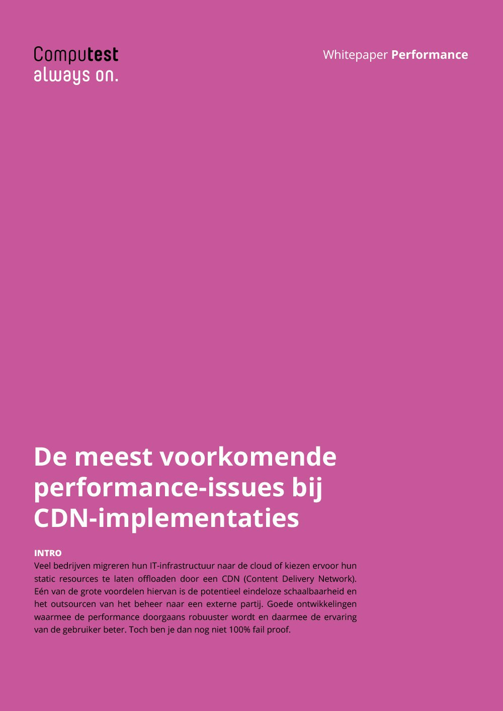 Meest voorkomende performance-issues