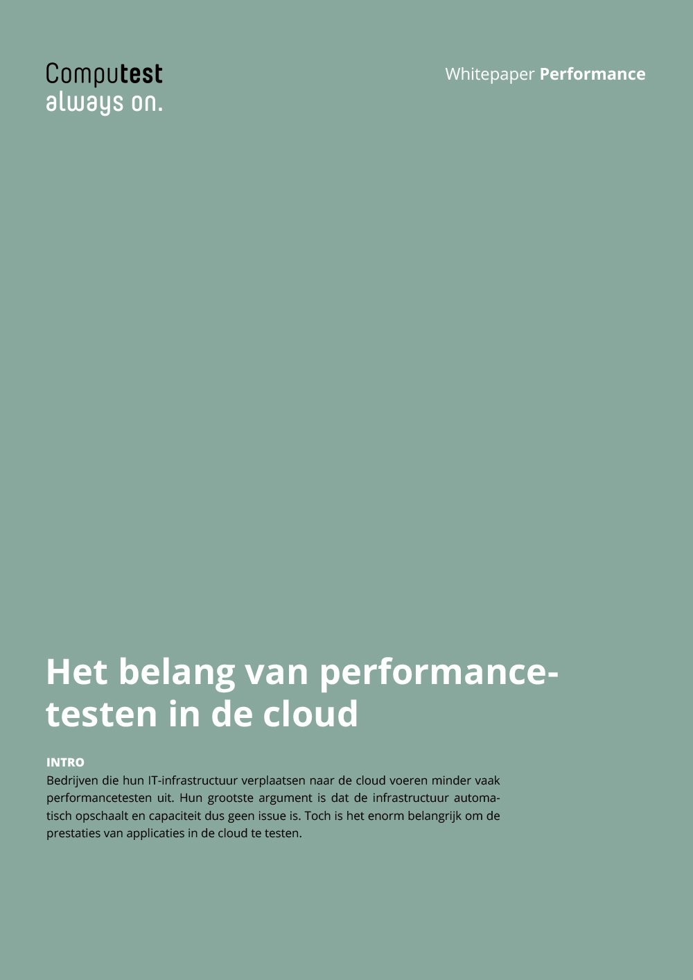 Performancetest in de cloud