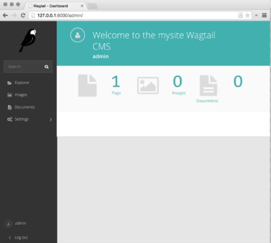 Wagtail admin interface